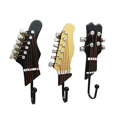 YA-Uzeun Klassische Gitarrenform, dekorative Haken, Wandmontage, Kunstharz