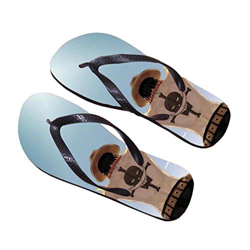 Bromeo One Piece Anime Unisex Flip Flops Zehentrenner Flip Pantoffeln 384