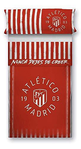 Cama 90 cm ATM 1903. Atl/ético de Madrid Juego Funda N/órdica para Edred/ón Oficial del Club