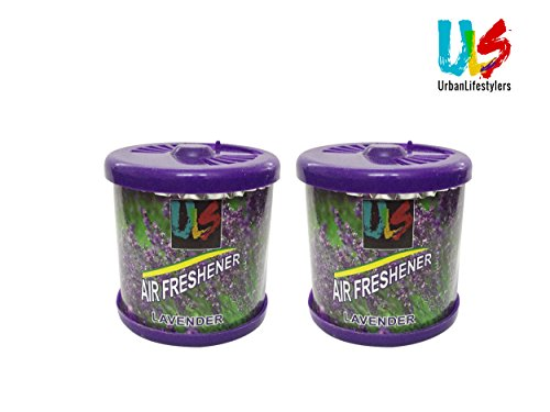 Urbanlifestylers Air Freshner Gel Car Perfume for Car Home Office (Set of 2) Lavender,100ml  available at amazon for Rs.99