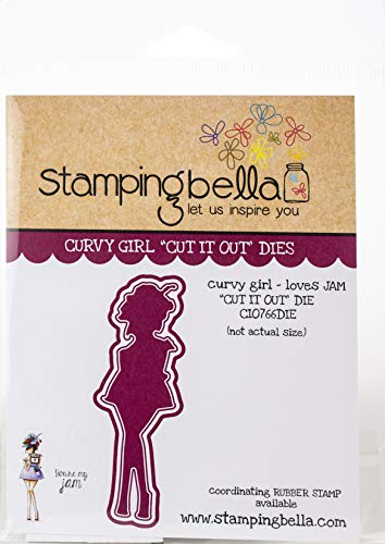 Stamping Bella CIO766 Cut It Out Die Curvy Girl Loves Jam -