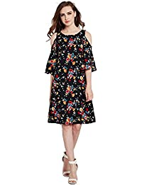 RARE Women Multicoloured Printed A-Line Dress (EP2086-S)
