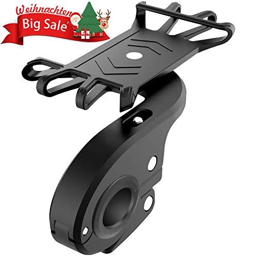 Carantee Handyhalter Fahrrad Motorrad Handyhalterung Outdoor Anti-Shake Verstellbarer Fahrradhalterung 360°Drehbare Für 4.7-6 Zoll Smartphone, GPS Andere Geräte