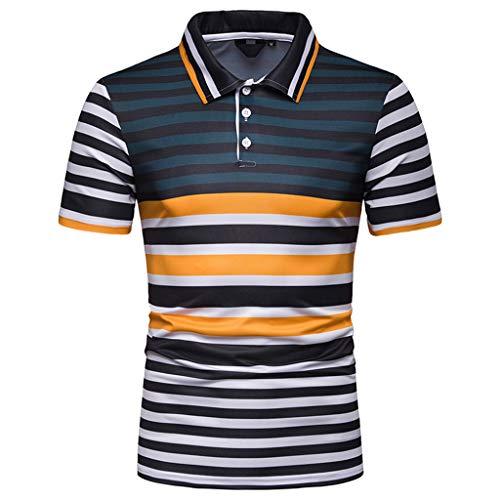 053546e7308 Mymyguoe Camisas Algodón Slim Fit Camiseta Golf Poloshirt T-Shirt Polo para  Hombre Camisetas Manga