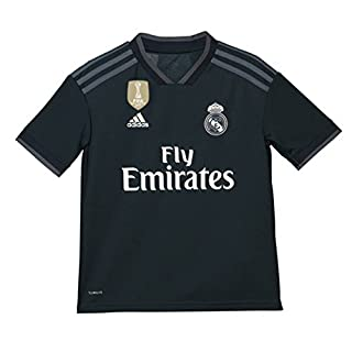 adidas Children's 18/19 Real Madrid Away - Lfp Shirt, tech Bold Onix/White, 128