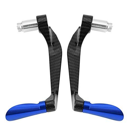 Motorrad Bremshebel Kupplungsschutz Kupplung Kompatibel, Carbon Lenker Schützen Schutz Aluminiumlegierung Faser Motorrad Bremse Kupplungshebel Lenker Schützen Schutz (1 Para)(Blue)