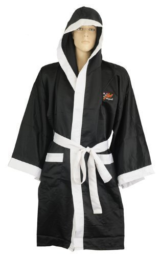 Playwell - Bata de boxeo (seda), color negro Talla:small