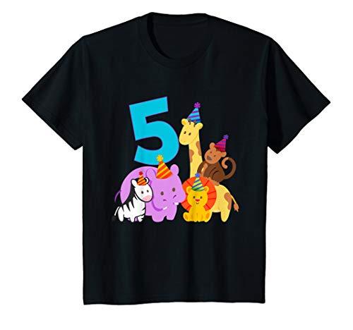 Kinder Geburtstagsshirt 5 Jahre Tiere Dschungel 5. Geburtstag T-Shirt