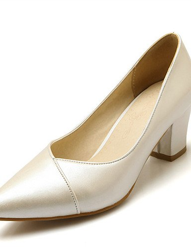 WSS 2016 Chaussures Femme-Mariage / Habillé / Décontracté / Soirée & Evénement-Noir / Rose / Rouge / Beige-Gros Talon-Talons-Talons-Similicuir black-us6.5-7 / eu37 / uk4.5-5 / cn37