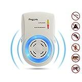 AngLink Repellente Ultrasuoni Per Topi - Anti Insetti, Zanzare tropicali, Ratti, Mosche, Pulci - Repeller ultrasonico elettrico per Ragni e antizanzare Sicuro e non Tossico
