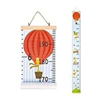 Basumee Height Chart for Kids Wall Ruler Growth Chart Wood and Canvas Wall Decals 20x200 cm