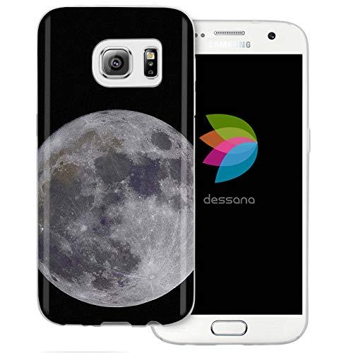 dessana Mond Transparente Schutzhülle Handy Case Cover Tasche für Samsung Galaxy S7 Vollmond 1226 Crystal