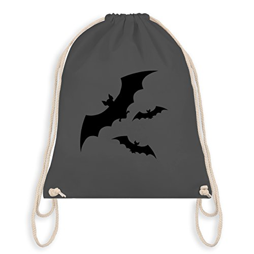 Halloween - Fledermäuse - Unisize - Dunkelgrau - WM110 - Turnbeutel & Gym Bag