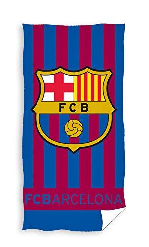 Toalla de rayas de FC Barcelona.