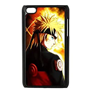 iPod Touch 4 Case Black Naruto QEH Back Durable Phone Case