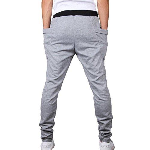 Minetom Homme Pantalon de Jogging Garcon Pantalon Court De Sport Casual Pantalons de formation pantalons de survêtement Gris