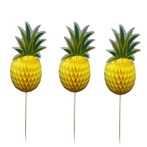 Kuchen Topper Ananas Cupcake Dekorationen Essen Picks Hawaii Luau Hochzeit Geburtstag Party Supplies ()