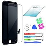 Eumango Kompatibel für iPhone 7 Display Schwarz LCD Touchscreen Glas Reparatur Ersatz Bildschirm mit Komplettes Kostenlose Werkzeuge