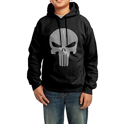 Teenager The Punisher Movie Skull Logo Hoodie Boys Girls by Bush Don