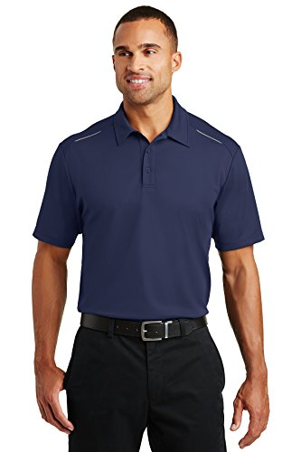 Mesh-knit Polo-shirt (Port Authority Rmk Pinpoint Mesh Polo Battleship Grey Training Shirts (Pack of 36), True Navy, Medium)
