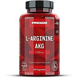 Prozis L-arginine akg 375 mg - pack de 60 gélules - 20 portions