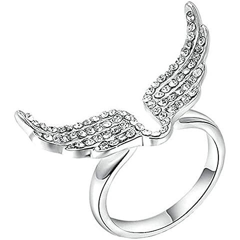 Anelli Donna Matrimonio Placcato Oro Cerchio Rotondo Volare Da Aienid