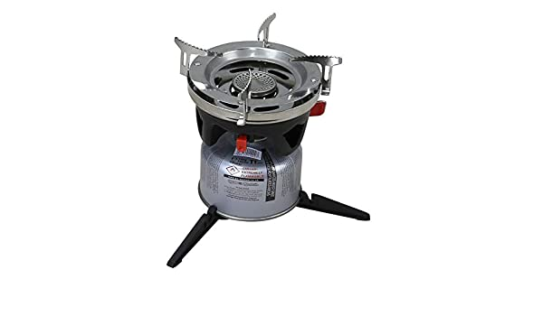 KOMBAT CYCLONE FAST BOILING WIND PROOF STOVE AND COOKING SYSTEM WITH POT ADAPTOR