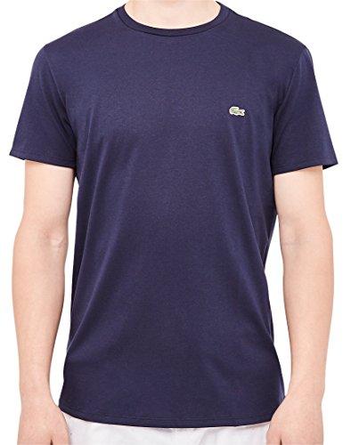 Lacoste Herren T-Shirt Th6709, Blau Blau (Marine)