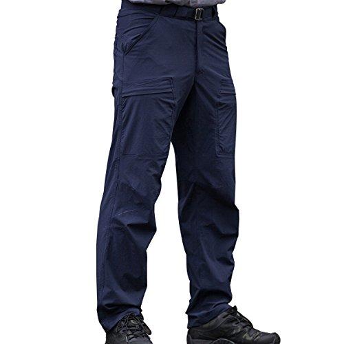 Free Soldier Herren-Outdoorhose, schnelltrocknend, dünn, Sommerhose, atmungsaktiv S blau