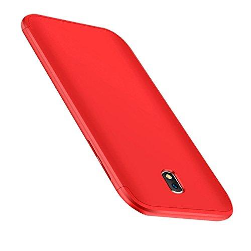 Coque Samung Galaxy J7 2017 étui ,Qissy® 3 en 1 Bumper Tout inclus Ultra Mince Spécialement Design 360 PC protective Hard case Cover Pour Samung Galaxy j7 2017 5.5pouces Smartphone Rojo