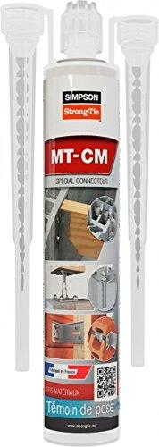 Résine de scellement chimique, spéciale connecteurs, couleur Grise 280 ml, qté 1 pièce, réf. MT-CM280-G-FR