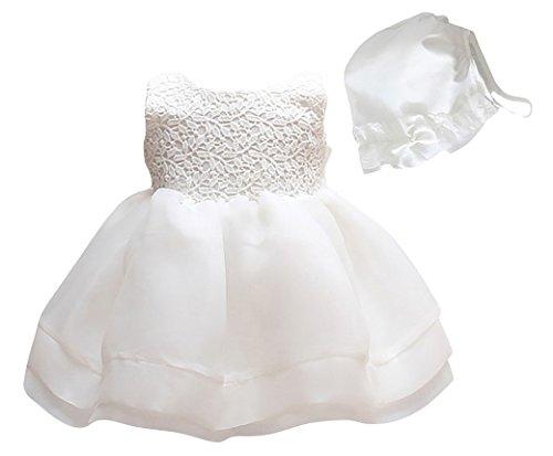 Happy Cherry Baby Mädchen Kleid Dacron Unifarben Brautkleid Ärmellos Ballkleid Hochzeit Festzug...