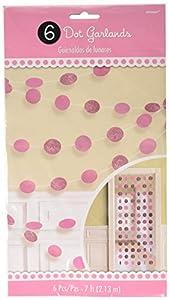 Amscan International-672424-1092,13M Nueva Cadena Kit de decoración, color rosa brillante