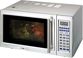 Clatronic MWG 746 H Mikrowelle Grill u. Heissluft inox 25L 900/1200 W