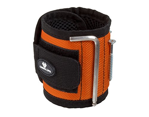Case4Life DIY Magnetische Armbänder mit 10 starken Magneten Magnetarmband - Fähig zu halten Schrauben, Nägel, Kleine Werkzeuge, Bohrer - Heimwerker/Händler - Lebenslange Garantie
