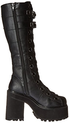 Demonia ASSAULT-202 Blk Vegan Leather