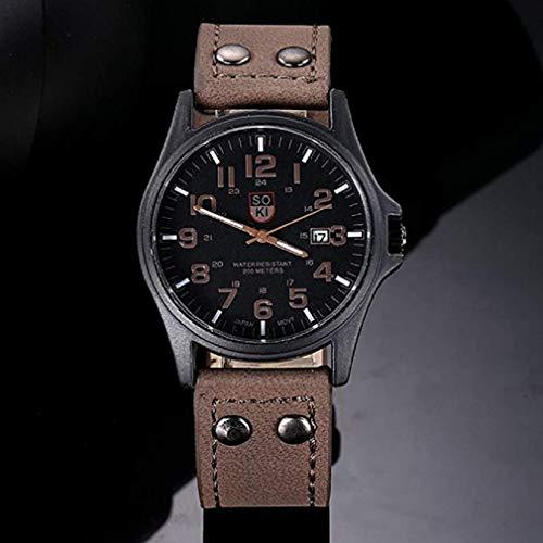 Frauen Uhren,Moeavan Frauen Quarz Uhren Analog Clearance Damen Armbanduhren Mädchen Uhren Leder Damenuhren (Braun)