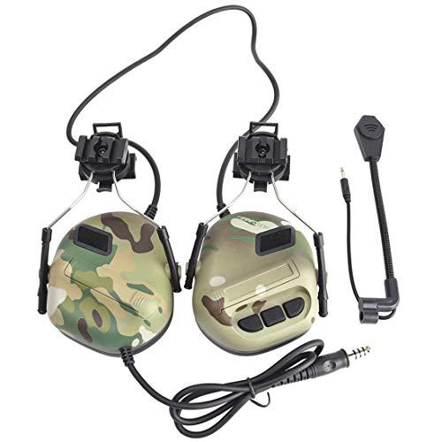 TONGJI Airsoft Headset Tactical Headset Mit Mikrofon Noise Cancelation Für Jagd,CS,Nerf,Paintball