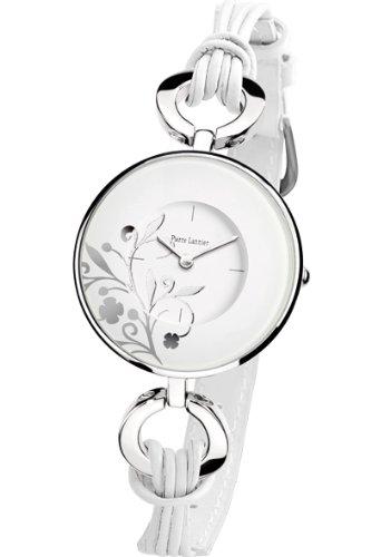 Pierre Lannier 075H600 - Reloj analógico para mujer de cuero blanco