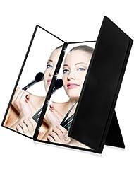 Intelligent Einstellbare Led-leuchten Vergrößerungs Kosmetische Helle Tri-falten Licht Up Ultra-dünne Tragbare Vergrößerung Desktop Make-up Spiegel Haut Pflege Werkzeuge