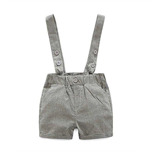 2125221c1b7b E.life Traje de bebé niño 2pcs caballero camiseta Top tirantes Strap Shorts.