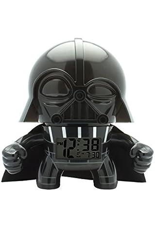 BulbBotz Star Wars Darth Vader Kinder-Wecker mit Hintergrundbeleuchtung | schwarz/grau | Kunststoff | 19 cm hoch | LCD-Display | Junge/ Mädchen |