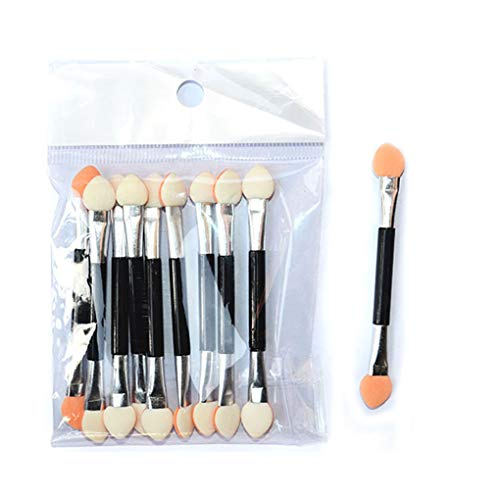 fish 10PCS Ombretto applicatore in Spugna Double Ended Make up Accessori per Portatili Ombretti Pennelli Nail Specchio Powder Brush