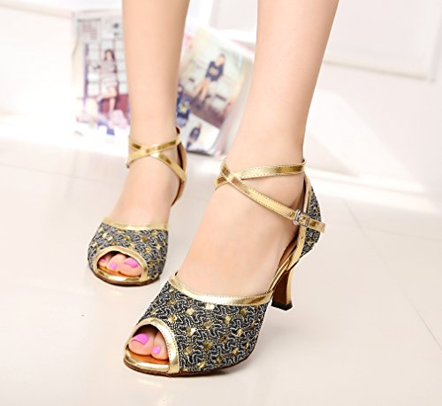 Minitoo De Senhoras Ouro Sapatos Dançando ZZH1wqU6