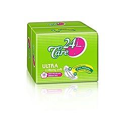 24care Ultra Thin Cottony Soft XL 280mm Sanitary Pads Napkins (15 pcs)