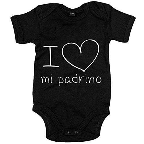 Body bebé I Love mi padrino - Negro, 6-12 meses