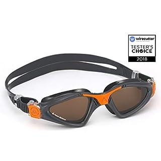 Aqua Sphere Unisex Adult Kayenne Swimming Goggles, Polarised Lens/Grey Orange, One Size