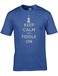 Keep Calm and Carry On Fiddleing- violin player war poster parody Men's T-Shirt