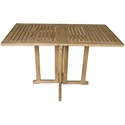 Klapptisch Balkontisch Balkon-Möbel Gartenmöbel Eukalyptus FSC Tisch 120/70 Garten