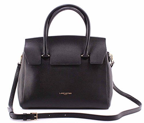borsa-donna-mano-spalla-lancaster-paris-noir-cuir-vachette-black-cow-leather-new
